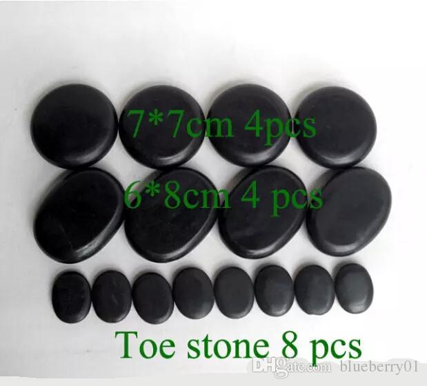 Heiße Steine Massage Massage natürliche Energie-Massage Stein-Set Hot Spa Rock Basaltstein mit freiem Verschiffen