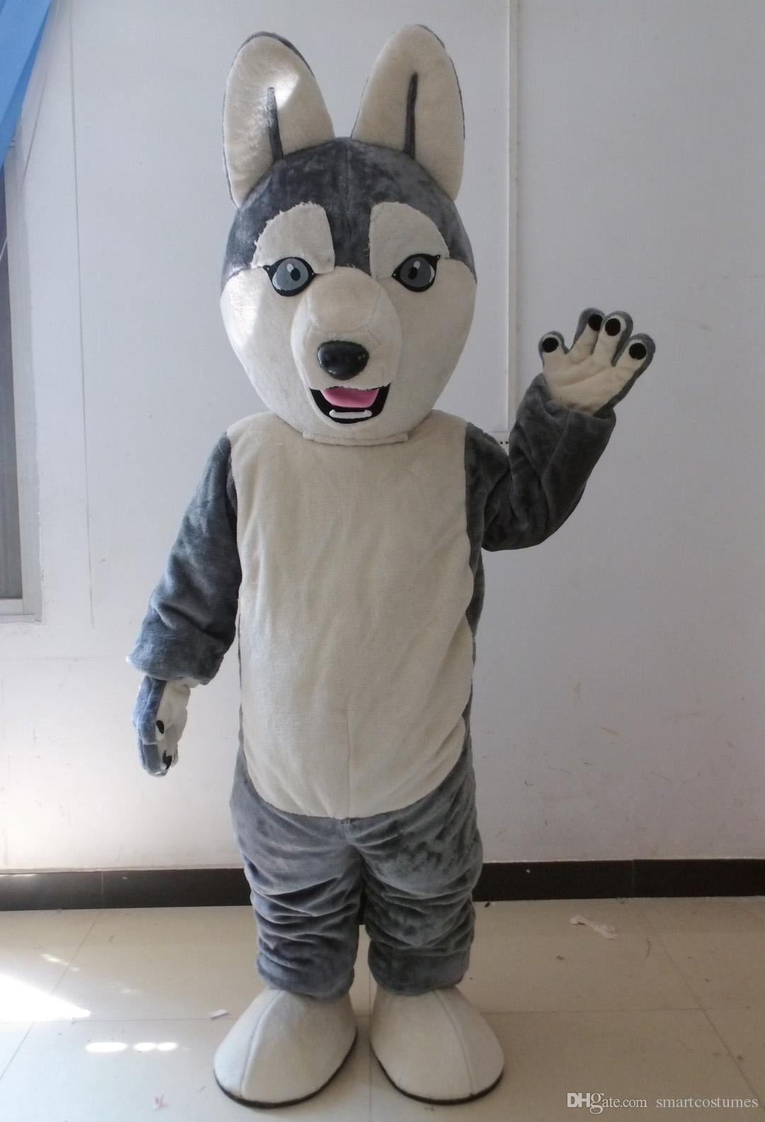sx0727 good vision and good ventilation pet dog mascot siberian husky mascot costume for adult to wear for sale angel costumes ladies halloween costumes