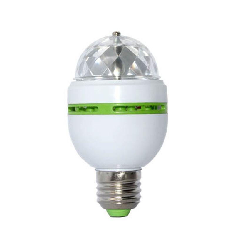 E27 3 Watt Farbige Magic Ball 3 Watt RGB Led-lampen E27 Lampada Led-lampe AC 85-265 V 110 V 220 V Auto Rotierenden Bühnenbeleuchtung Für DJ Party Show