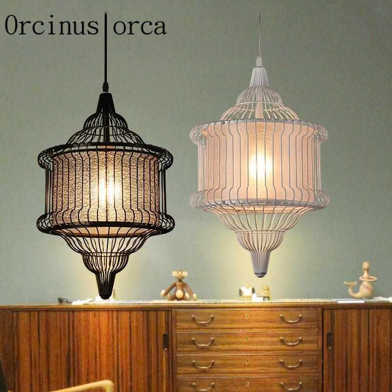 Discount Wholesale Modern New Chinese Style Lights Iron Cage