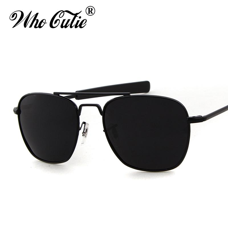 65f0a1d75178 WHO CUTIE 2017 Men Polarized AO Sunglasses MILITARY American Optical Lens  James Bond Caravan Sun Glasses Hot Ray Shades OM399 Prescription Sunglasses  Online ...
