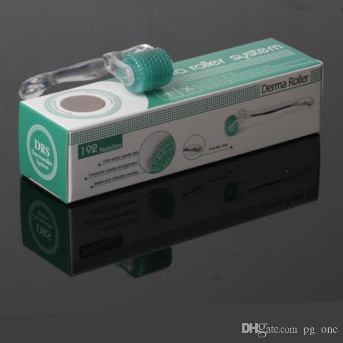 Cilt Gençleştirme için DRS Mikro İğne Derma Rulo Kırışıklık Akne Skar Koyu Daire 192 Mikro İğne Derma Roller