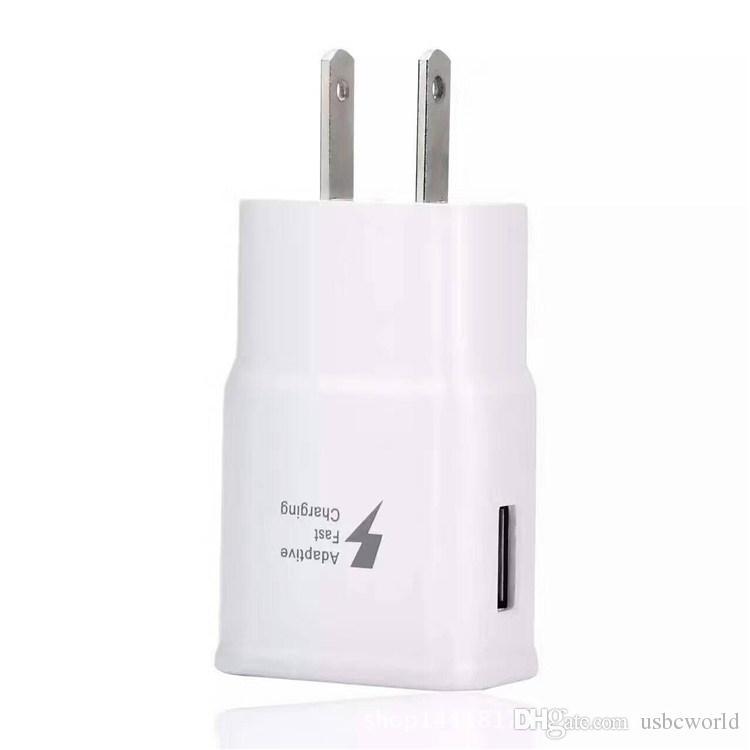 Samsung Galaxy S8 Note 8 S7 Adaptive caricabatterie da viaggio a ricarica rapida 9V 1.6A 5V 2A Cradle Design