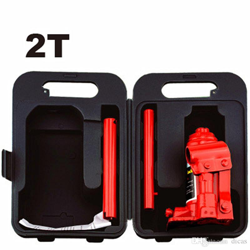 2T hand hydraulic car jack vertical automobile van suv hydraulic jack tire  replace useful tool plastic case package light weight