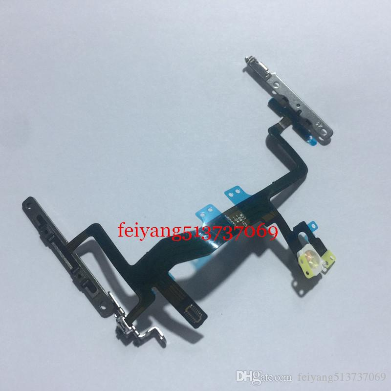 100%Original or High quality For iPhone 6S 4.7inch Power Button On/Off Button Flex Cable With Metal Plate