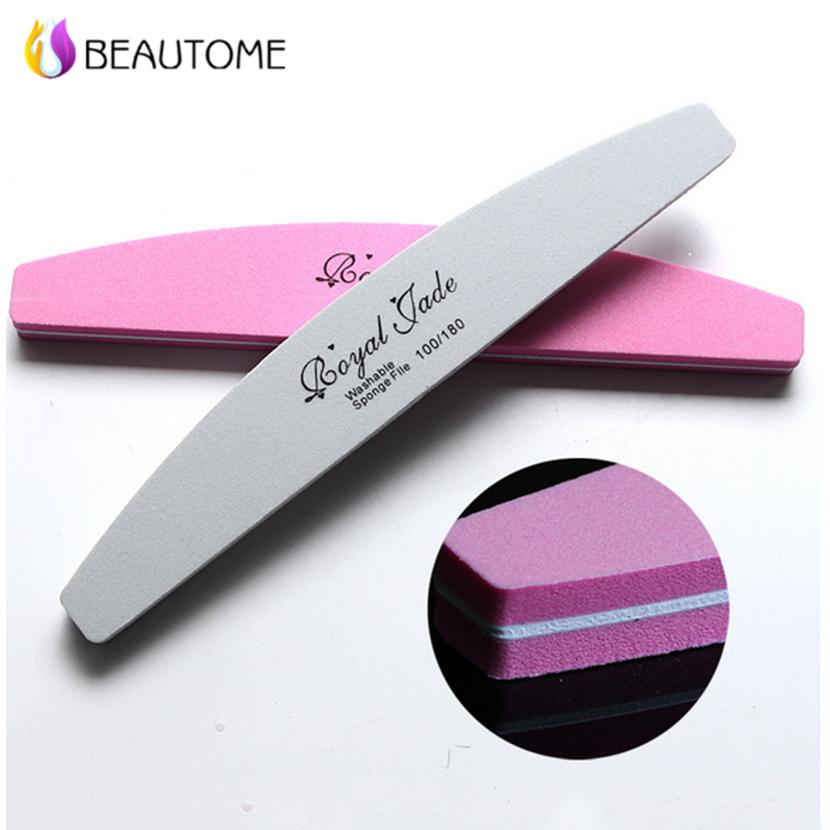 Wholesale Thickened Sponge Nail File Buffer 100/180 Washable Sponge ...