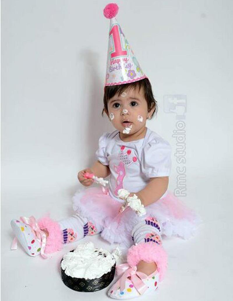 2018 Wholesale Baby Girl Summer Clothes 1 Year Old Birthday Girl