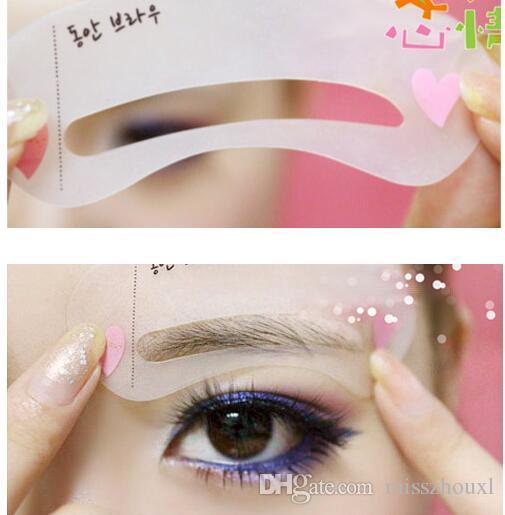 Sopracciglio sourcils forme pochoir de toilettage modèle Femmes beauté outils de maquillage facile à utiliser