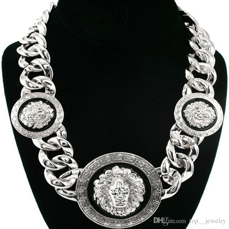 Tropfen-Öl-Löwekopf der Qualitätslegierungs-Anhänger-weiblichen Halskette neue Art Europa und amerikanischer Artschmucksachen