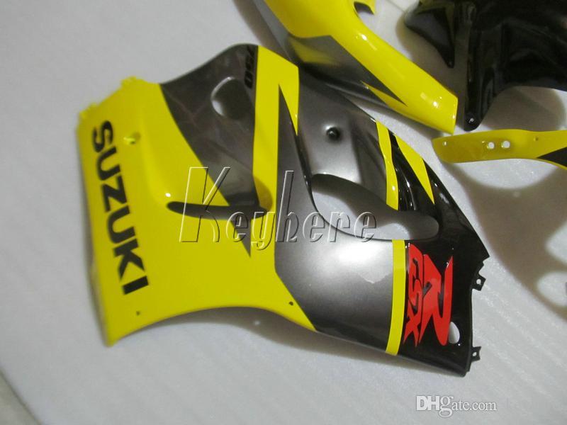Kit carénage pour Suzuki GSXR600 96 97 98 99 ensemble carénage noir jaune GSXR750 1996-1999 OI03