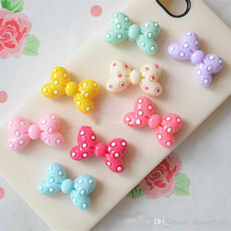 Resin cartoon bowknot flatback Scrapbooking DIY for Hair Bow rope /headwear/Crafts Frame Making Embellishments Crafts PD085
