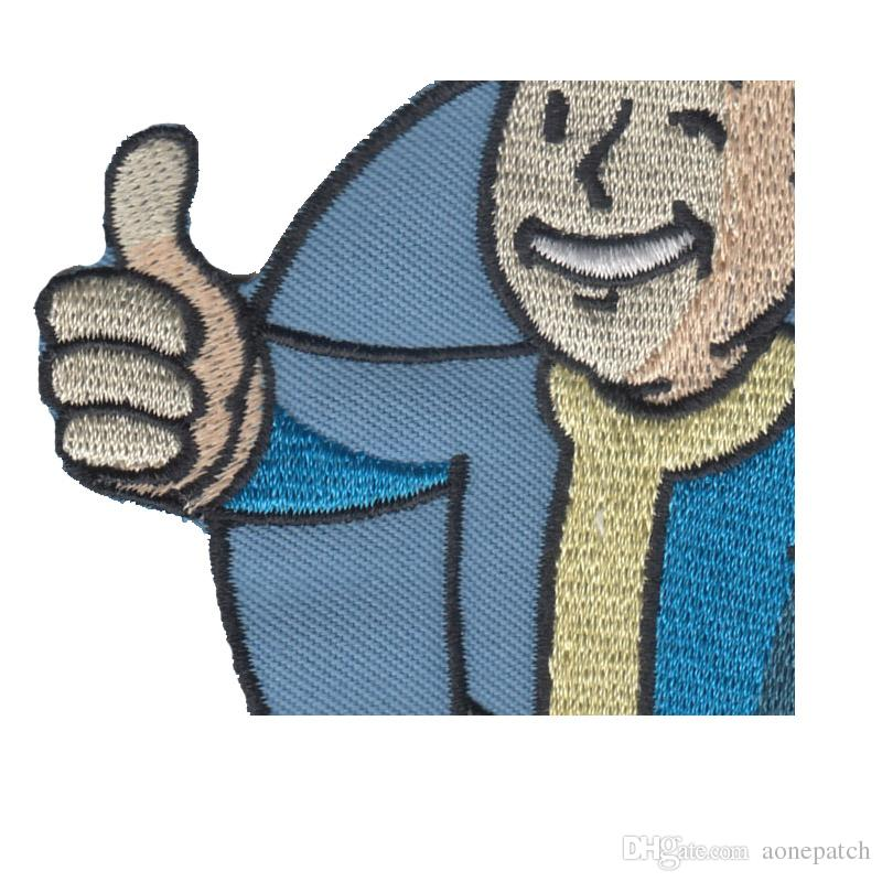 New arrival cartoon character embroidered Iron On Patches garment Appliques accessory patch for Jacket Jeans Clothing Badge