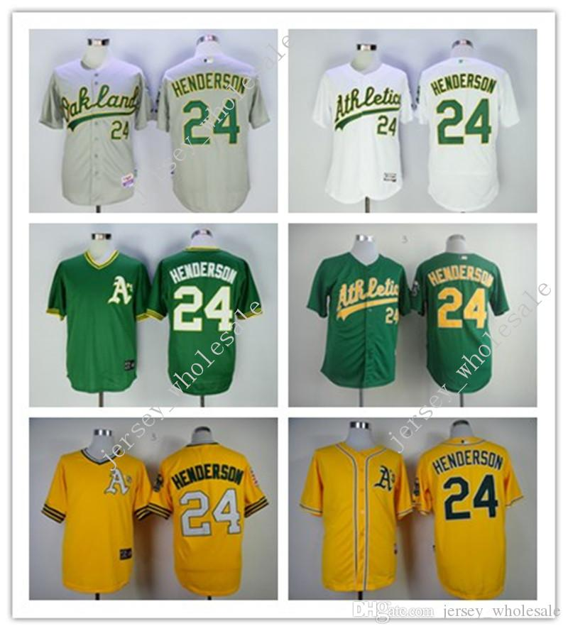 9efd20e4d ... 50% off authentic mens majestic flexbase collection mlb mlb jersey  oakland athletics 24 rickey henderson
