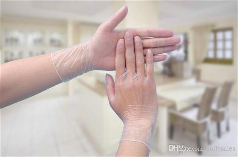 Tek Kullanımlık Siyah beyaz temizle Nitril lateks Eldiven PVC temizle Toz Lateks Ücretsiz eldiven muayene mekanik güzellik için çok amaçlı
