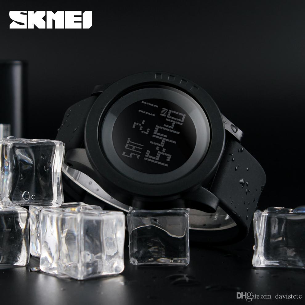 New Top Unique Fashion Dress Mens Digital Waterproof Sports Watches Classic Black Swimming Army Big Face Brands Running Wristwatches Best
