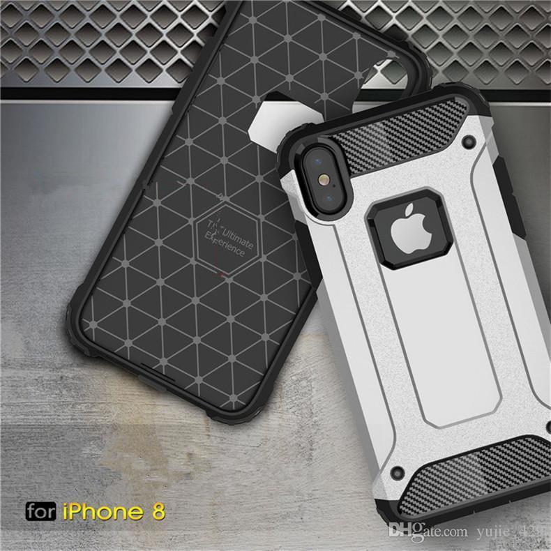 Para iphone 8 tpu robusto fibra de carbono armadura tampa do caso SGP para iphone 7 6 6 s plus com saco de opp