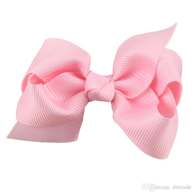 vente chaude coréenne 8 cm Grosgrain Ruban Hairbows Bébé Fille Accessoires Avec Clip Boutique Cheveux Arcs Épingles À Cheveux Élastiques à cheveux