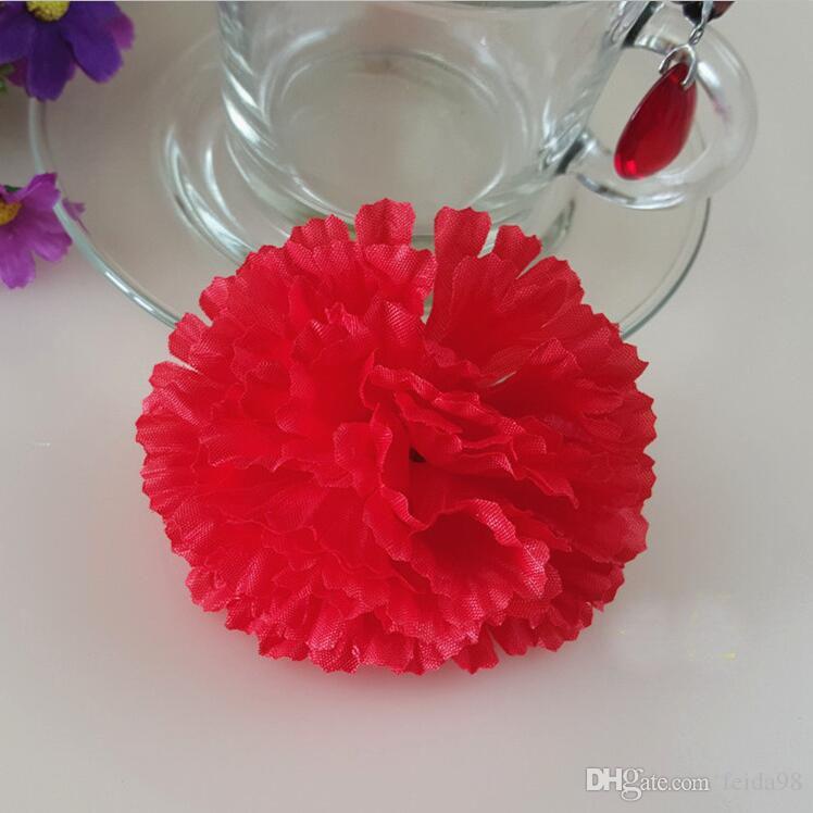 Fleurs artificielles en soie fleurs en gros tête de fleur d'oeillet faisant la main bricolage Style clôture