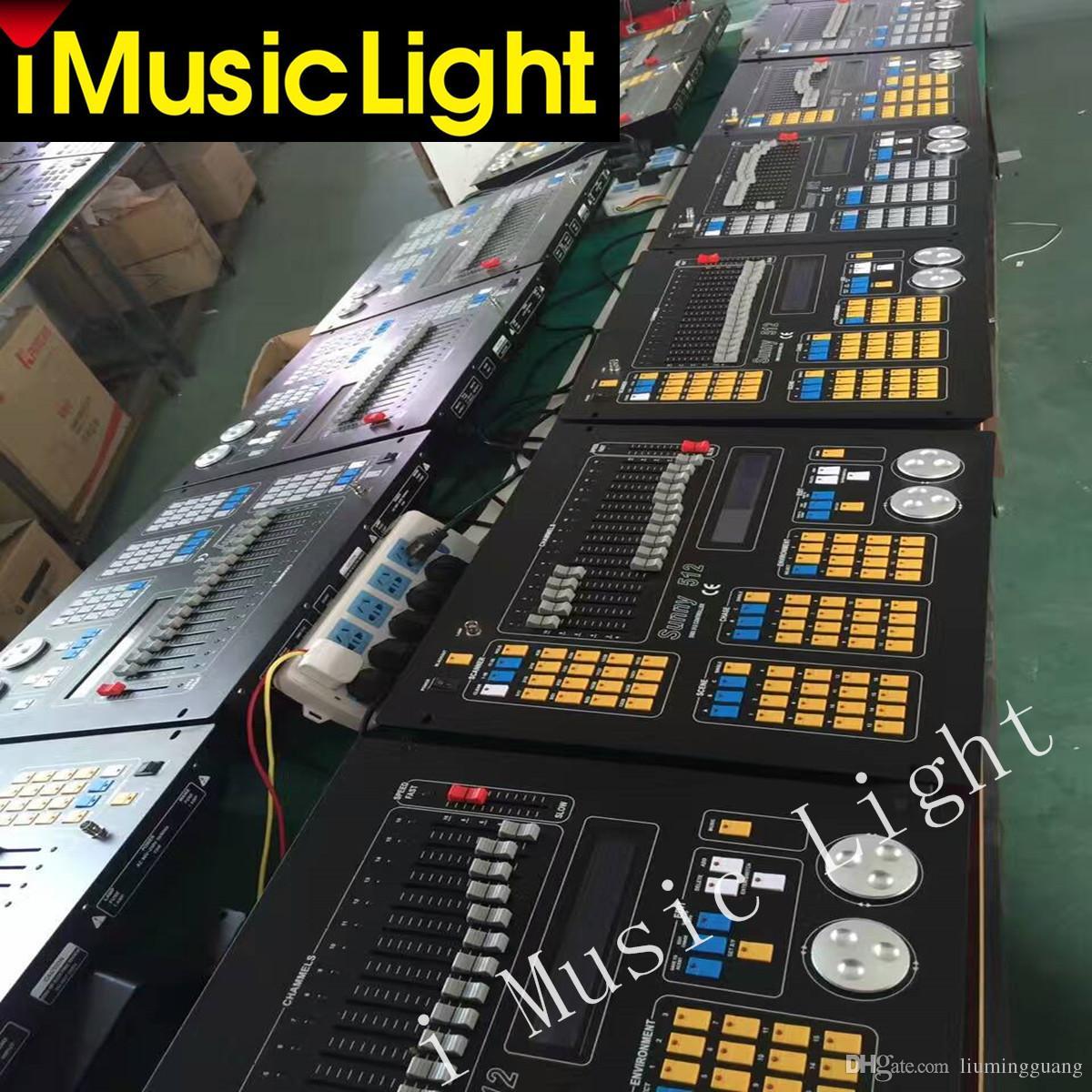 Neue Sunny Dj Controller Sunny512 Lichtkonsole 512 Dmx Kanäle Steuerung 32 Moving Head Lichter 2 Ausgang Schnittstelle dmx Controller