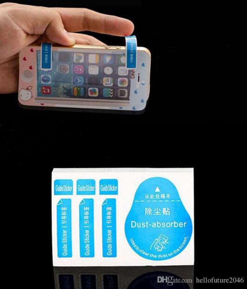 Free post Dry Wipes+Wet Wipes+Dust Absorber Sticker Cleaning Cloth For Tempered Glass Screen Protectors Tablet Camera LCD