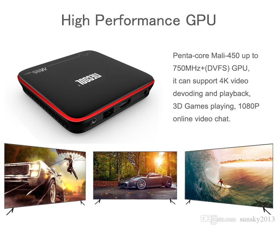 Original Mecool M8S Pro W Android Smart TV Box Amlogic S905W Quad Core 2GB 16GB Android7.1 4K H.265 Streaming Media Player 2.4G Wifi