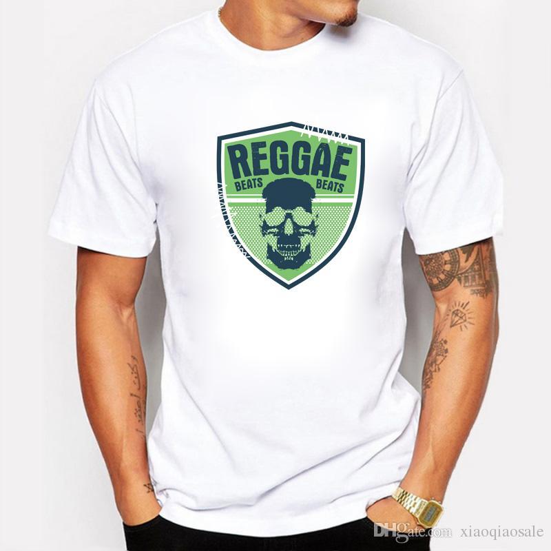 Magliette a maniche corte T-shirt da uomo con stampa t-shirt di Bob Marley Reggae