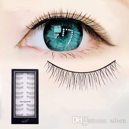 Wholesale-Of New Women Lady Black Cross False Eyelashes Soft Long Makeup Eye Lashes Extension Tools