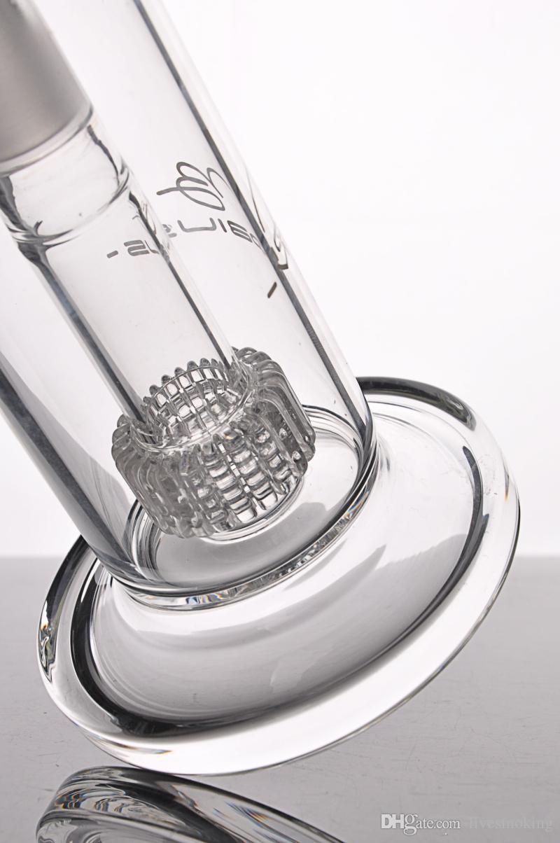 Limpar Bubbler Vidro Bongos De Água Grosso Mobius Matriz Estéreo Perc- Novo Reciclador Plataformas de Petróleo Tubo De Água De Vidro com Perc estéreo Bongo de vidro inebriante