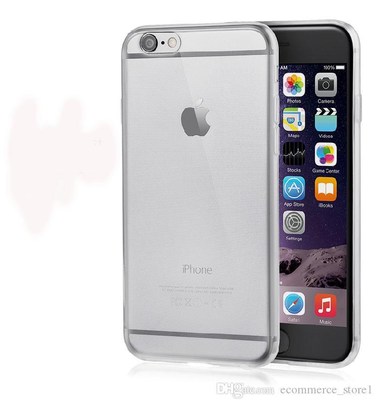 아이폰 7 플러스 6 6S 울트라 얇은 크리스탈 투명한 소프트 TPU 실리콘 커버 폰에 대한 휴대 전화 케이스 Opp 패키지로 다시 커버