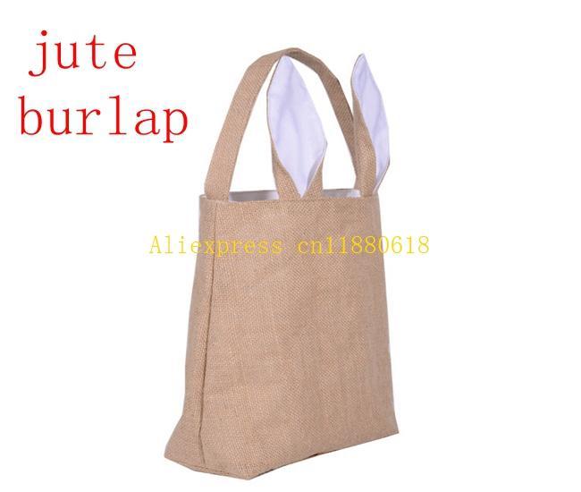Dhl fedex easter gift bag jute burlap material rabbit ear shape see larger image negle Gallery