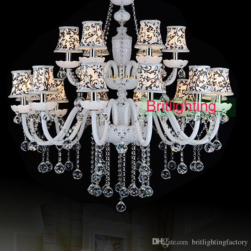 Modern Hotel Hall Crystal Chandeliers Country Style