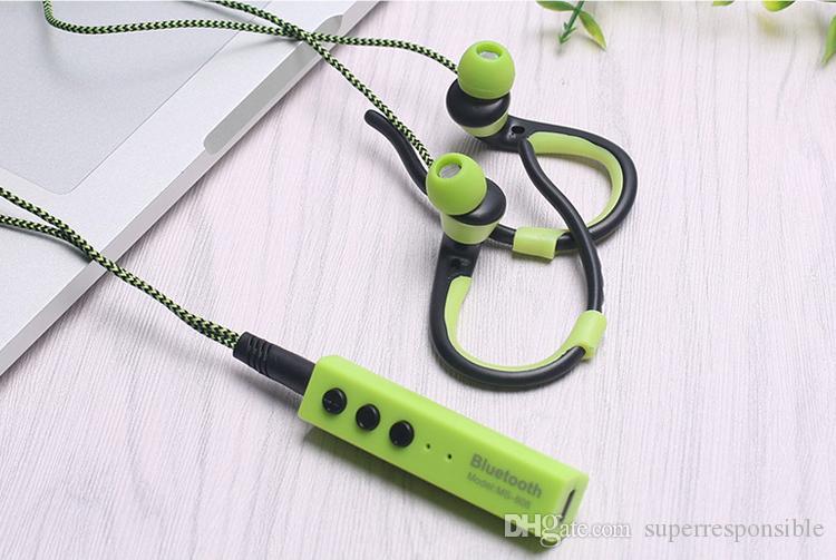 MS-808b высокое качество висит ухо стерео портативный наушники Спорт Bluetooth гарнитура красивая и прочная для iphone песня samsung
