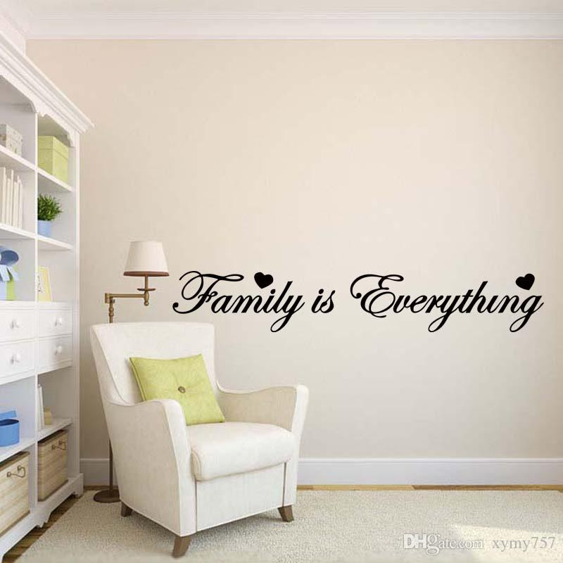 Family Is Everything Wall Sticker Vinyl Art Quote Decal Bedroom Sitting Room Words For Love Diy Decor