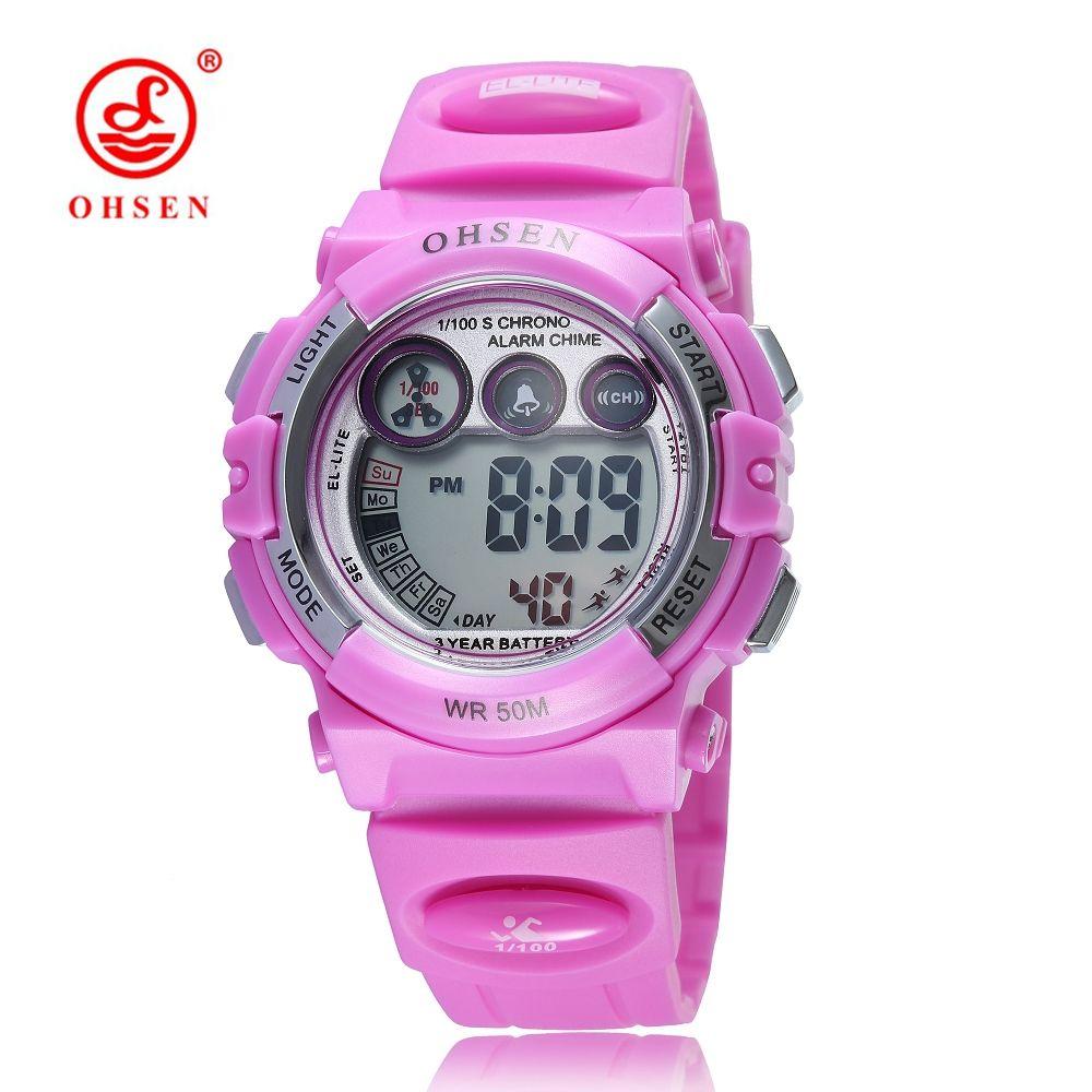d2d9889382d 2017 New Arrival OHSEN Brand Fashion Digital Watch Kids Children Waterproof  Sports Watch LED Army Electronic Wristwatch Relogio Wrist Watch Buy Online  ...