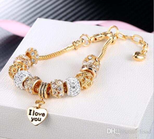 meninas pulseiras jóias arrefecer cadeias pulseiras charmosas, a verdadeira amizade pulseiras mão DIY com logotipo de amor impressa