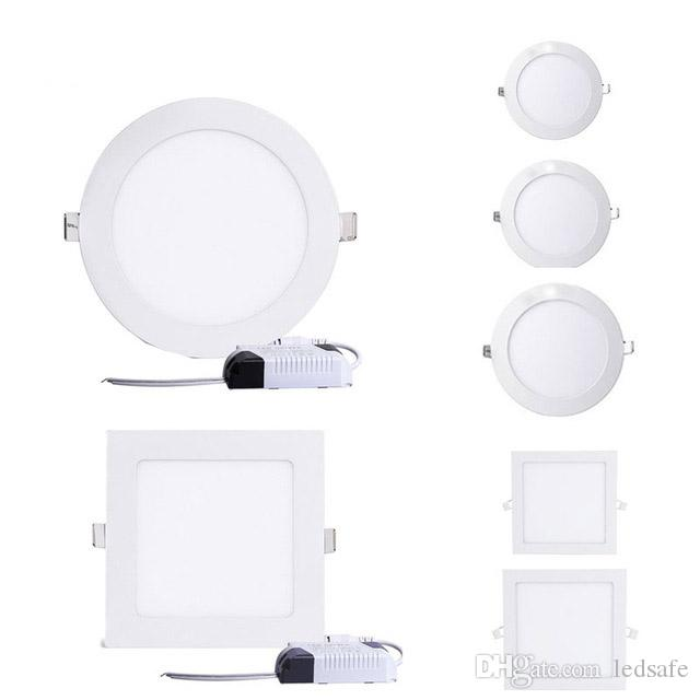Ultra Bright 7w 12w Led Ceiling Wall Light Flush Mounted: 2019 Super Bright LED Panel Lamp Recessed Downlights