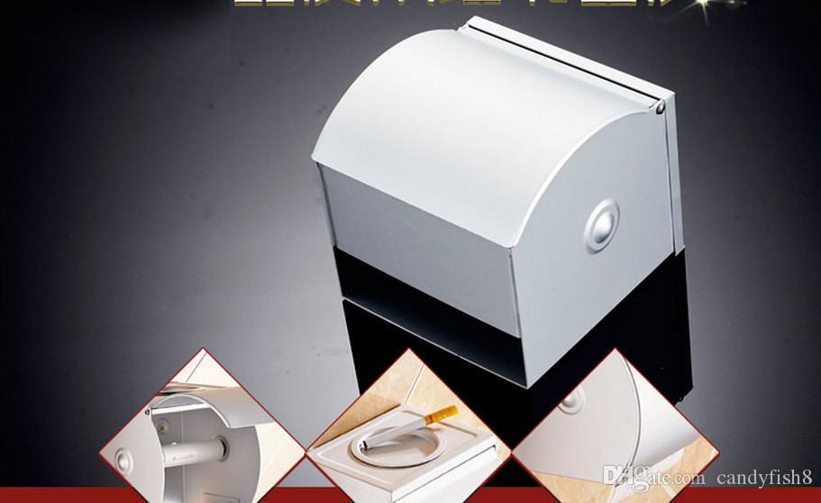 A2 Bathroom rack supplies bathroom accessories Space aluminum solid bathroom toilet paper holder box net book rack