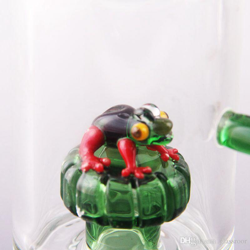 стекло бонг лягушка 11 дюймов стекло Бонг стекла буровые установки стекла бонги ручной дует Бонг уникальная форма барботер стекла бонг