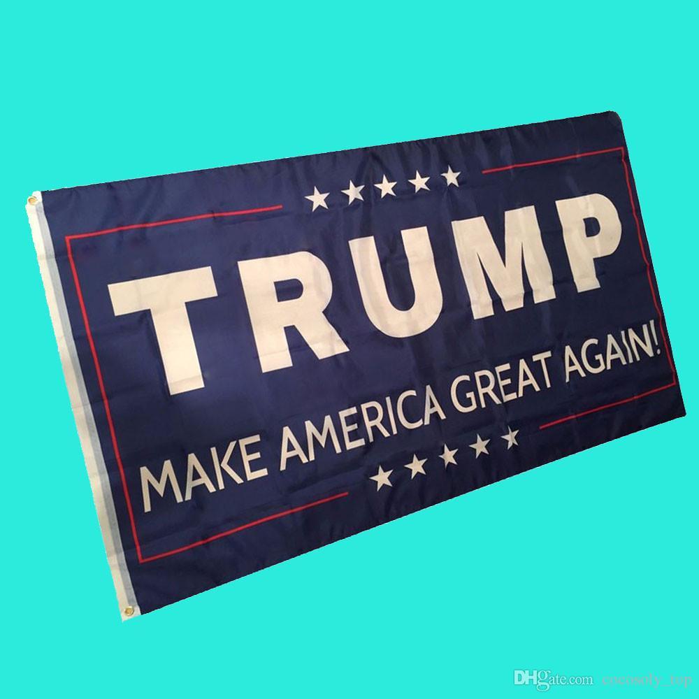 Nowe zakwalifikowane flagi 3 przez 5 stóp flaga Trump American Flag Mosiądz Przelotki Levert Dropship