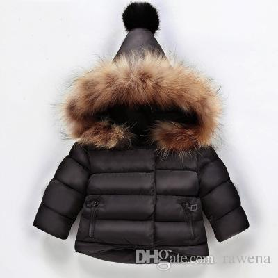 1 Year Old Baby Girl Hand Plug Cotton Padded Winter 2 Year Old Men And Women  Baby Cotton Jacket Children Thick Real Fur Collar Jacket Coats For Little  Girls ... e8c36a244b