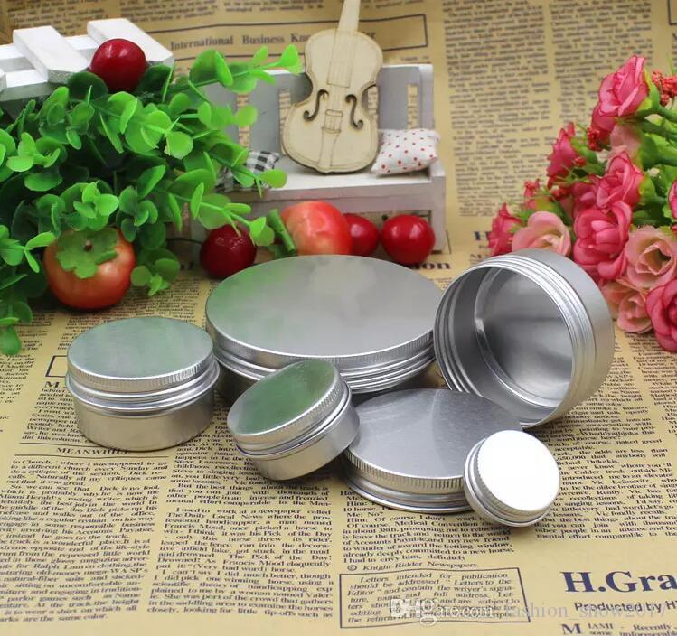 Frasco de creme de alumínio vazio lata 5 10 15 30 50 100g cosméticos bálsamo bálsamo recipientes de desregulação de prego artesanato frasco