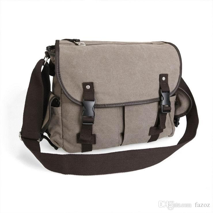 217e24e1c6 Classic Casual Washed Cotton Canvas Satchel Messenger Bag Fashionable  Vintage Retro Travel Black Shoulder Crossbody Bag For Men Mens Messenger  Bags ...