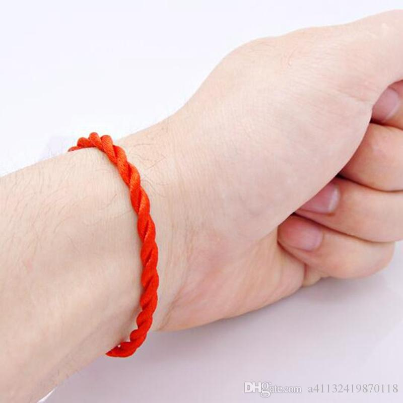 Hot Red String Fate Rope Bracelets Friendship Bangles Fashion Handmade Cord Lucky Christmas Gift B001
