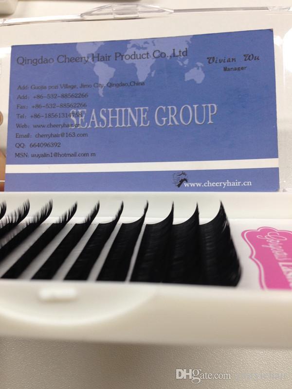 5 trays Individual Eyelashes Extension Natural False Eye Lashes Cilios Posticos Silk Lash Extensions 0.05D Curl