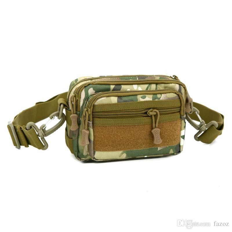Tactical Camouflage Fanny Pack Molle Military Survival Gear Waist Bag Small  Ourdoor Crossbody Single Shoulder Bum Hip Bag For Men Red Fanny Pack Lumbar  ... 02cb8142c