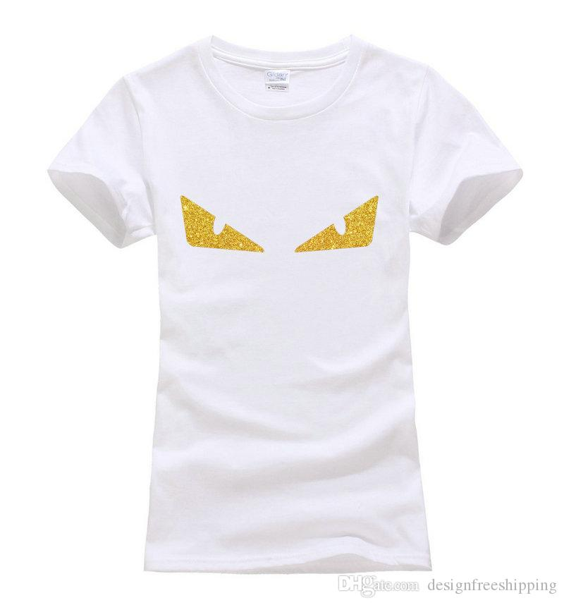 Little Monster Eyes Printed Cute Tops Tee Summer 100% Cotton Fashion ... 873c5fd73