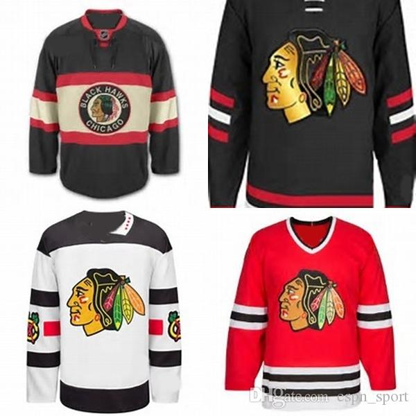5fcd9447f28 2019 Factory Outlet Custom Chicago Blackhawk Jerseys Hockey Jerseys Cheap  Home Away Alternate Jersey Embroidery Logo Sew On Any Name   Number From ...