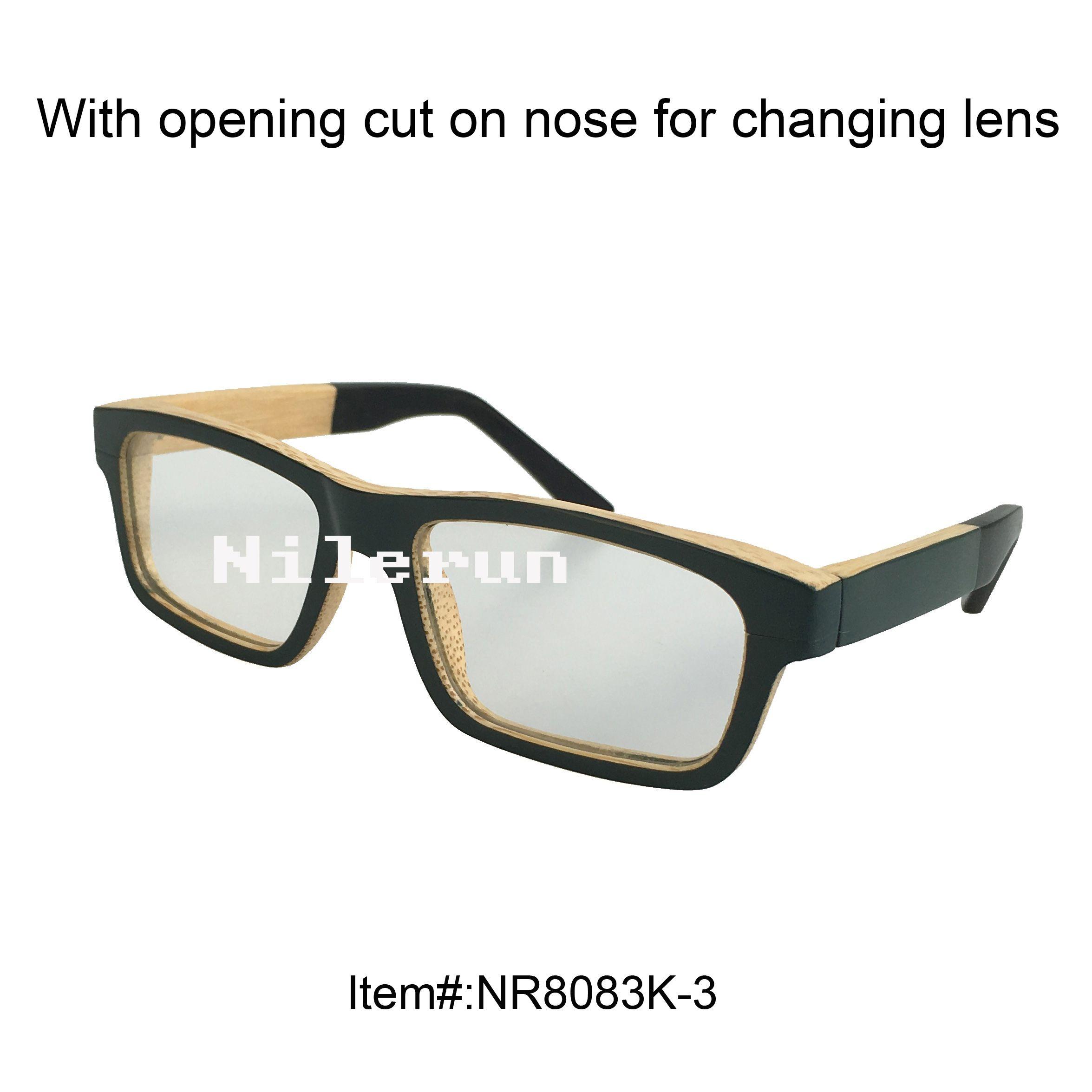 10e93f1abf Fashion Women s Rectangle Small Green Bamboo Optical Eyeglasses with ...