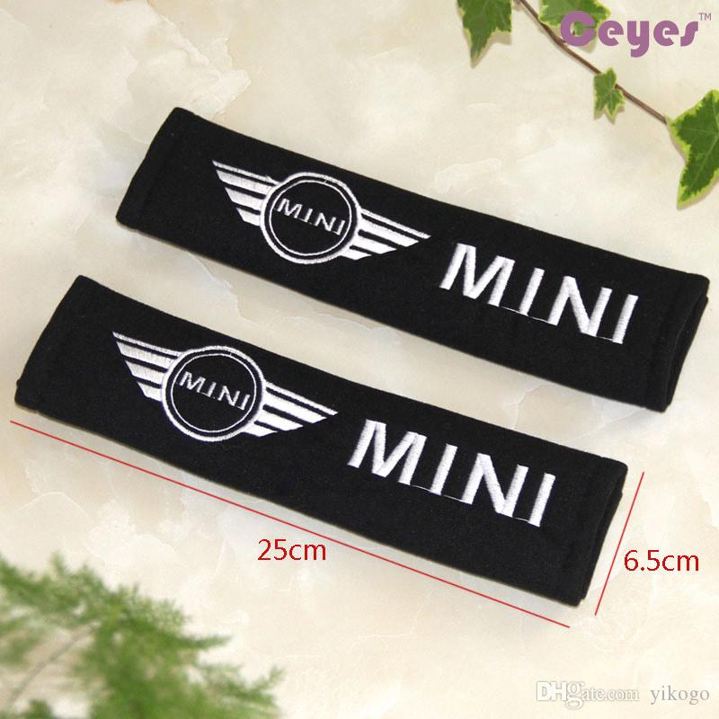 Car Styling for BMW MINI copper r50 country man Harness Strap Logo Shoulder Pad Car Seat Belt Cover Exterior Accessories