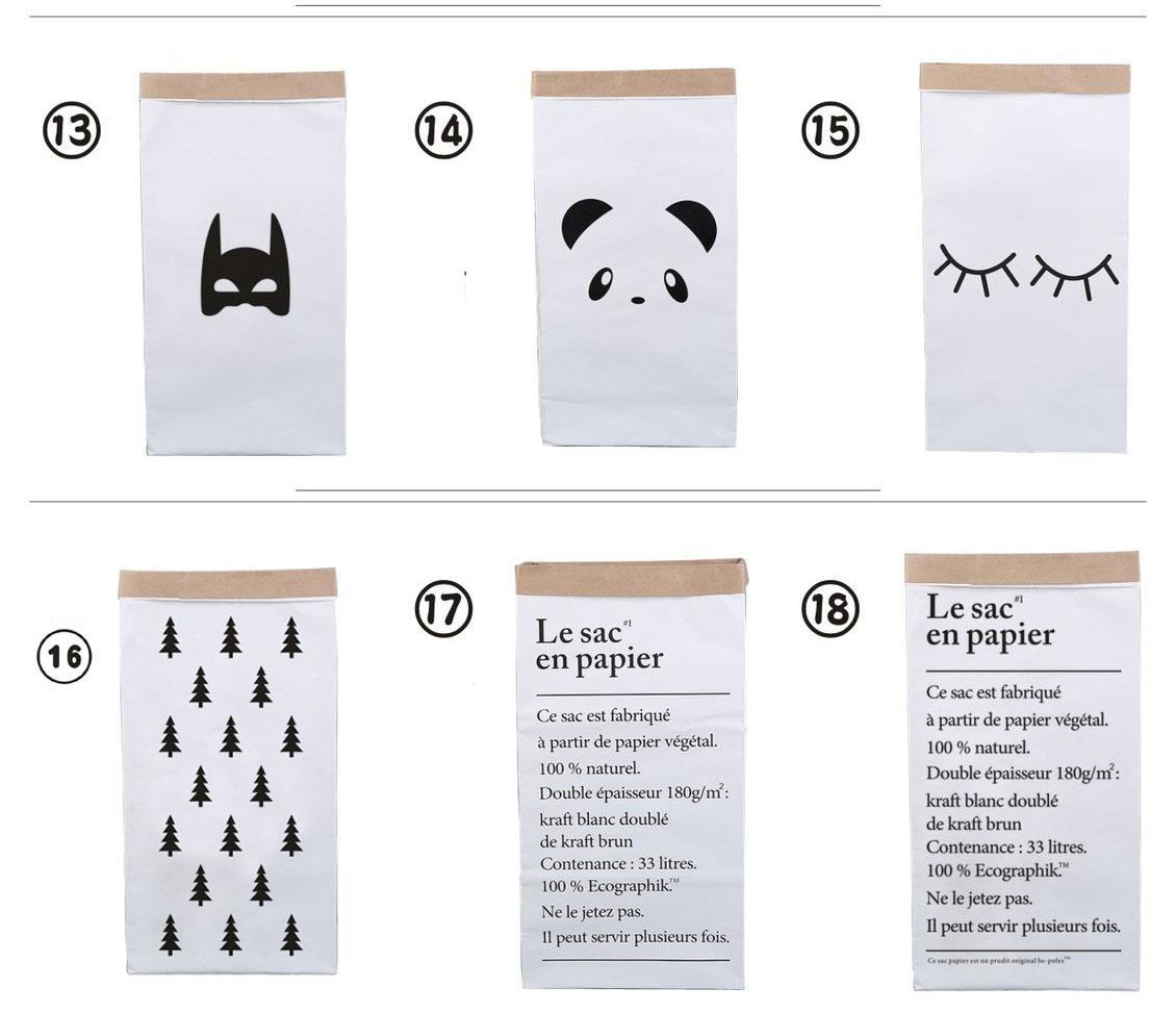 61x32x16 CM 30 disegni sacchetto di immagazzinaggio di carta di grandi dimensioni sacchetto di immagazzinaggio organizzatore di sacchetti di carta sacchetto di carta kraft